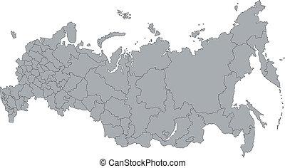 grå, ryssland karta