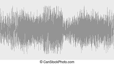 grå, sammandrag formge, bakgrund, in, den, bilda, av, wave.