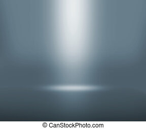 grå, spotlight, rum