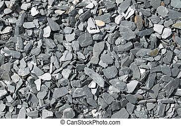 grå, sten, bruten, skiffer, bakgrund., abstrakt
