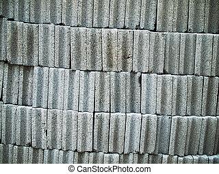 grå, tegelsten, kvarter, konkret