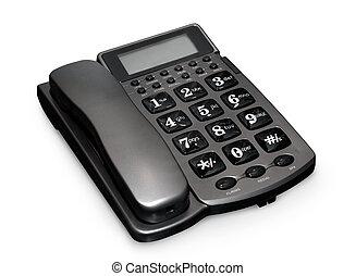 grå, telefon