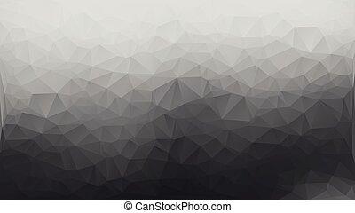 grå, triangel, polygon, abstrakt, bakgrund, vit