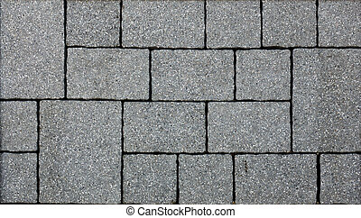 grå, trottoar