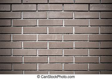 grå, vägg, tegelsten
