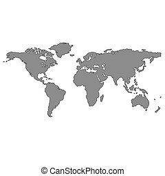 grå, världen kartlägger