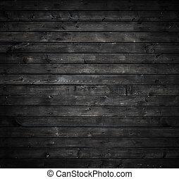grå, ved, vägg