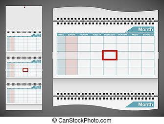 gråne, eps10, mur, isoleret, standard, baggrund., skabelon, blank, kalender, file.