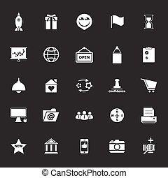 gråne, ikoner branche, oppe, start, baggrund