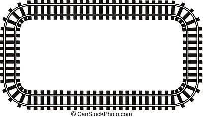 grænse, banen, tekst, top, skinne, illustration, lokomotiv,...