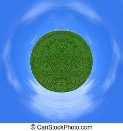 græs, himmel