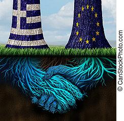 græsk, europa, aftalen