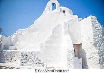 grèce, paraportiani, église, mykonos, panagia, île