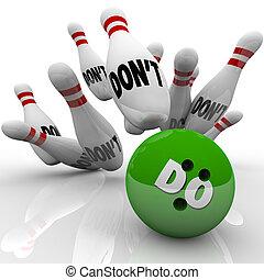 grève, balle, action, pas, initiative, prendre, bowling, vs