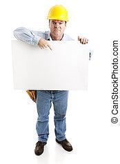 grève, ouvrier, construction, -