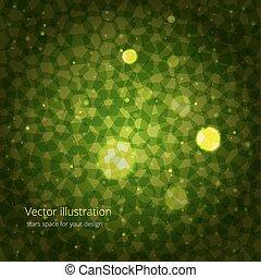 grön, abstraktion, design, din