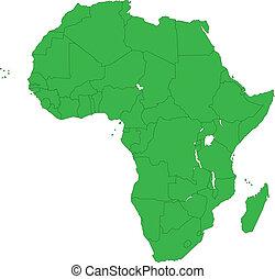 grön, afrika, karta