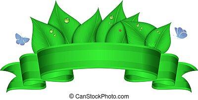 grön, baner, natur