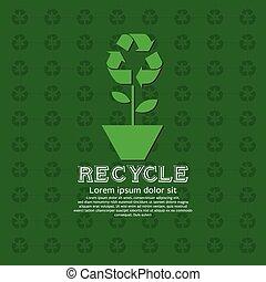 grön, concept.
