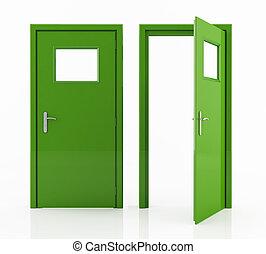 grön dörr