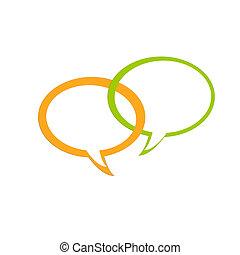 grön, dialoger, tonen, gul