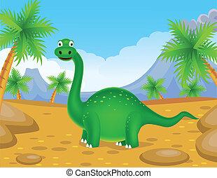grön, dinosaurie