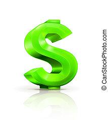 grön dollar endossera