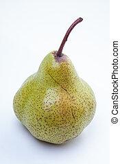 grön, duchess, päron, isolaed, vita