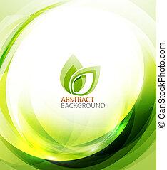 grön, eco, energi, bakgrund
