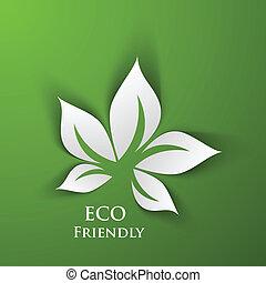 grön, eco, vänskapsmatch, bakgrund