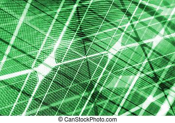 grön, energi, grön, solar panel