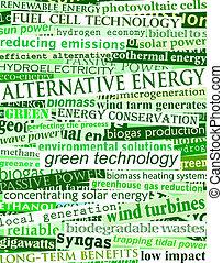 grön, energi, rubriken