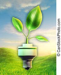grön, energi