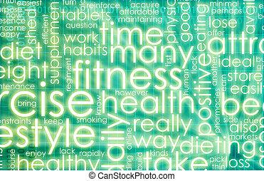 grön, fitness