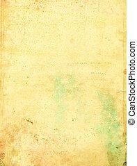 grön, fläckat, papper