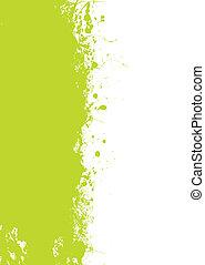 grön, grunge, splat