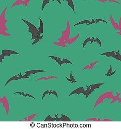 grön, halloween., slagträ, bakgrund