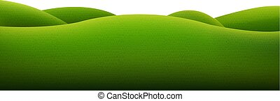 grön, isolerat, landskap