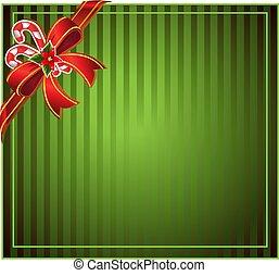 grön, jul, bakgrund