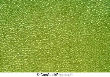 grön, läder