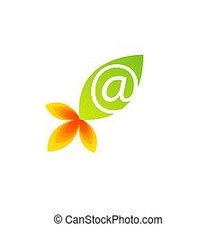grön leaf, logo