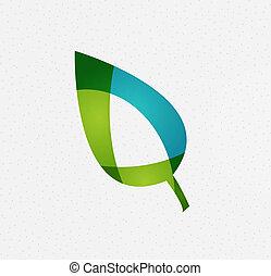 grön leaf, vektor, begrepp