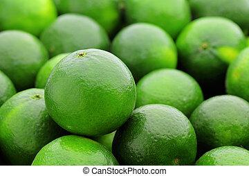 grön, lime, citrusfrukt