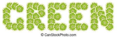 grön, lime