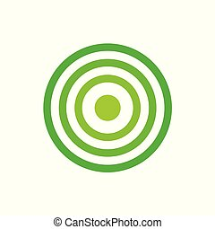 grön, måltavla, ikon
