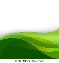 grön, natur, abstrakt, bakgrund