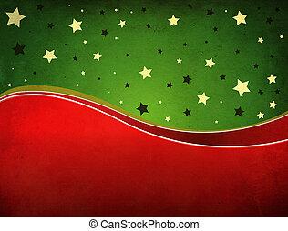 grön, och, röd grunge, backgrund