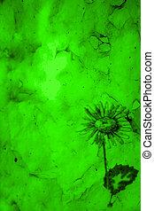 grön, papper