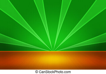 grön, rum, bakgrund, visa