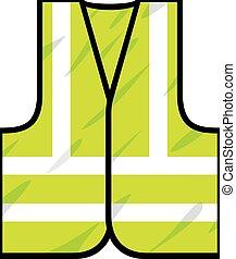 grön, säkerhet, undertröja